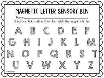 August/September Sensory Bins
