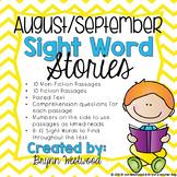 August/September Sight Word Stories