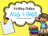August & September Writing Station
