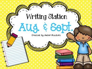 August & September Writing Station