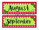 August, September pop out calendar with print and cut files