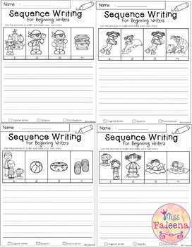 August Sequence Writing for Beginning Writers