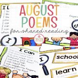 August Shared Reading (Sight Word Poems)