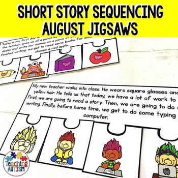 August Short Story Sequencing Jigsaws
