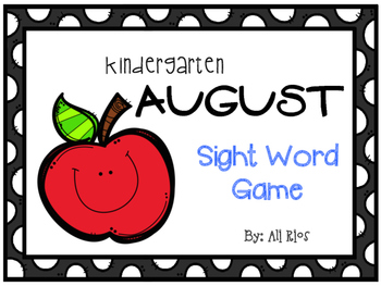 August Sight Word Game