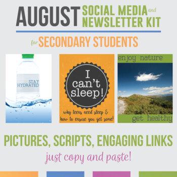 August Social Media and Newsletter Kit