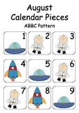 August / Space Theme Calendar Pieces for Numeracy Wall and