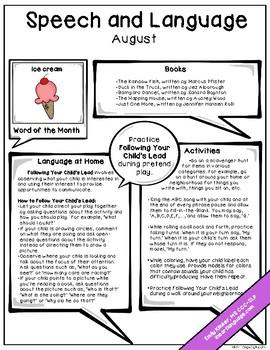 August Speech & Language Newsletter