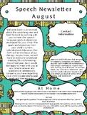 August Speech Newsletter