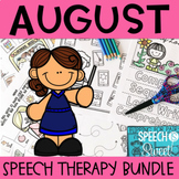 August Speech Therapy Bundle