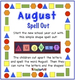 Months of the Year - August Spell Out