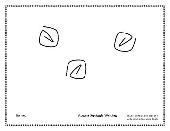 August Squiggle Writing Week 1