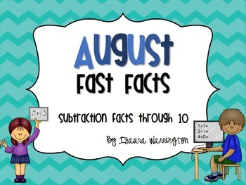 August Subtraction Fast Facts