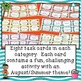 August Summer Task Card Choice Board for Fast Finishers