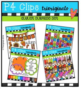 AUGUST SS BUNDLE {P4 Clips Trioriginals Digital Clip Art}