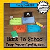 August Tear Paper Writing Craftivities