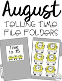 August Telling Time File Folders for Special Education