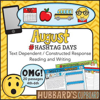 20 Reading Passages August - Google Classroom - Text Dependent - Text Evidence
