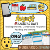 20 August Reading Passages - August Writing Prompts - August Morning Work