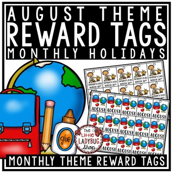 August Theme Brag Tags [Back to School Brag Tags, First Week of School]