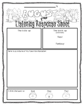 August-Themed {Differentiated} Listening Response--FULL version