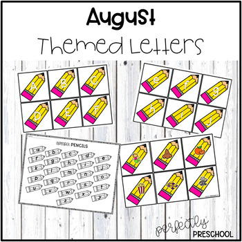 August Themed Letters