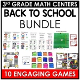 August Third Grade Math Centers BUNDLE