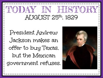 August Today in History Bell Ringers (EDITABLE)