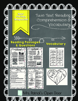 Twin Text Reading Comprehension and Vocabulary- Non-Fiction Magazine