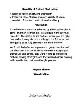 August Visualization Guided Meditation.