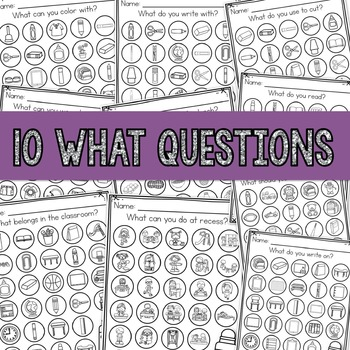 August WH- Question Dauber Pages