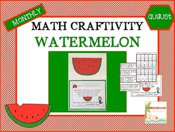 August Watermelon Math Craftivity