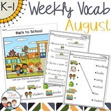 August Weekly Thematic Vocabulary Word Work