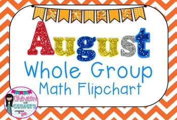 August Whole Group Math Flipchart