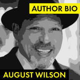 August Wilson Author Study Worksheet, Easy Biography Activity, CCSS