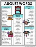 August Word List