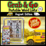 August Word Walls: Back to School, Parts of a Community, S