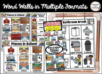 August Word Walls: Back to School, Community, Simple Machines, Summer Word Walls
