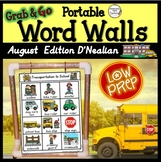 D'Nealian August Word Walls: D'Nealian Style Font, Back to School, Summer