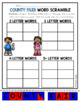 August Word Work: Word Scramble Puzzles