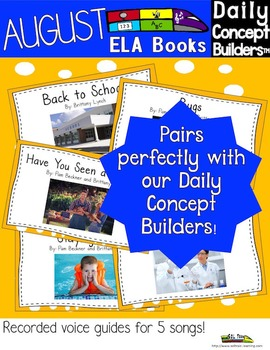 August Word of the Day ELA Book and Song Bundle