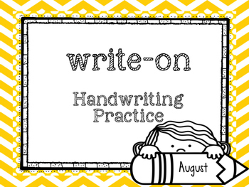 August Write-On (  Handwriting practice for 1st grade)