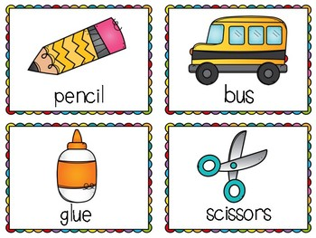 August Write the Room Activities : Back to School Write the Room