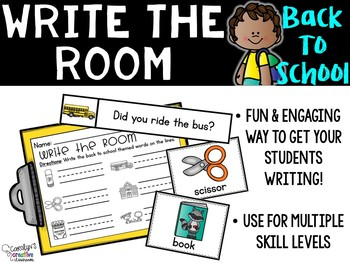 August Write the Room - Back to School