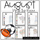 Digital August Write the Room: Football, Soccer, Vacation,