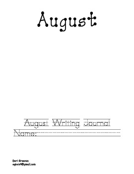 August Writing