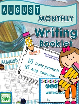 August Writing Calendar and Booklet (Non-editable Version)