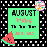 August Writing Choice Board Back to School