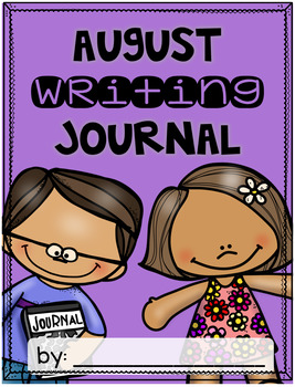 August Writing Journal {3 different levels}