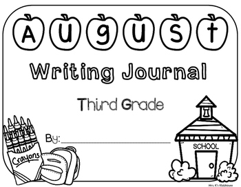 August Writing Journal Cover